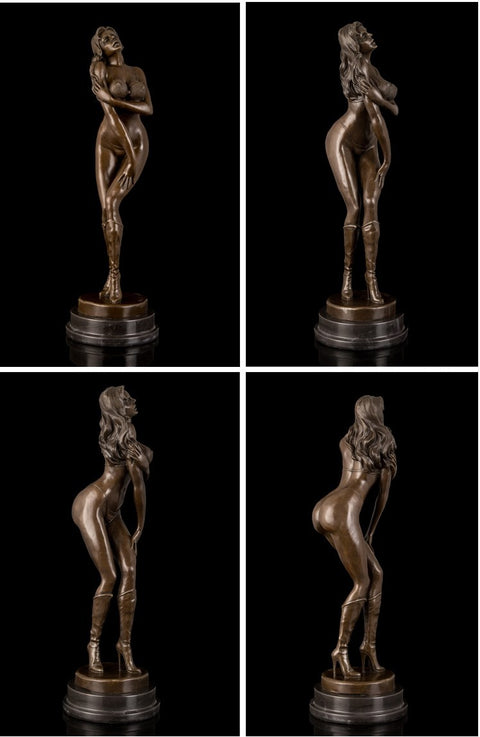 Sexy Hot Girl Bronze Sculpture