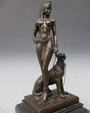 Nude Sexy Queen Cleopatra  Bronze Copper Sculpture