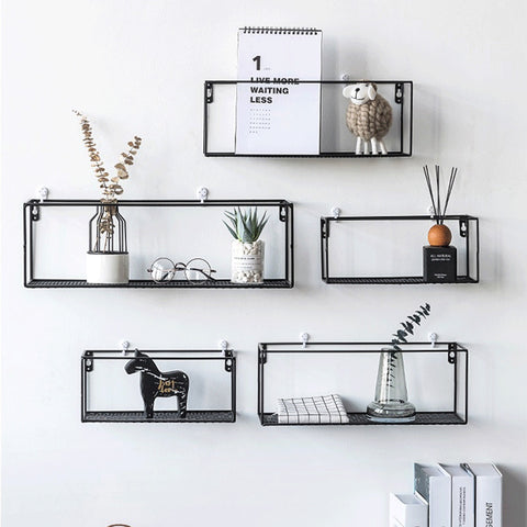 Rack Iron Grid Wall Shelf 1