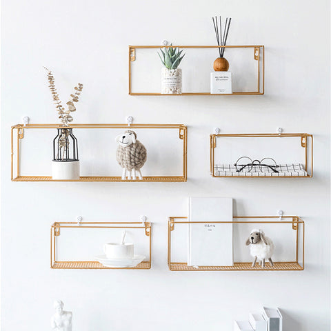 Rack Iron Grid Wall Shelf 5