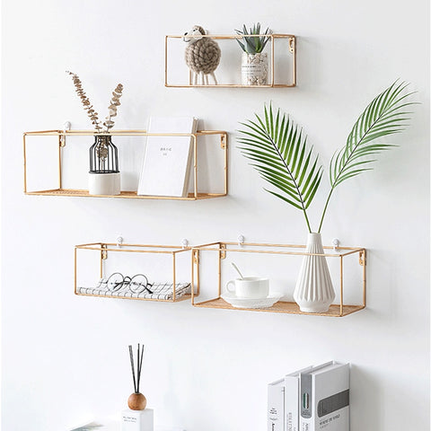 Rack Iron Grid Wall Shelf