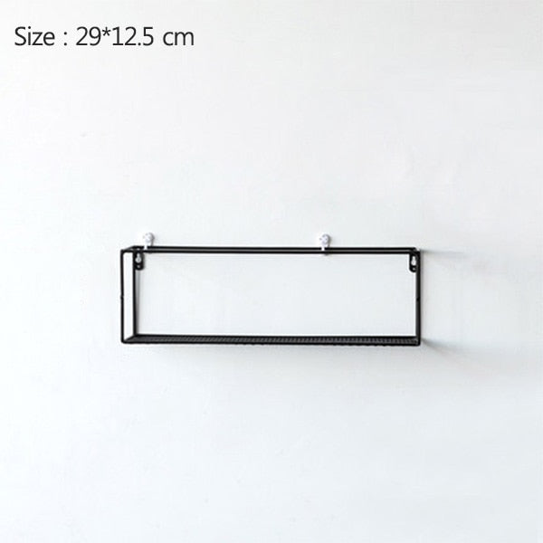 Rack Iron Grid Wall Shelf 2