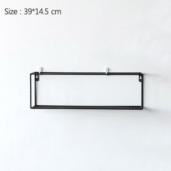 Rack Iron Grid Wall Shelf 4