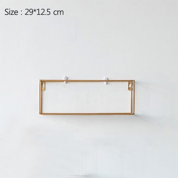 Rack Iron Grid Wall Shelf 6