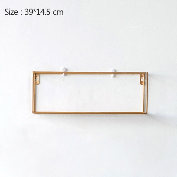Rack Iron Grid Wall Shelf 7