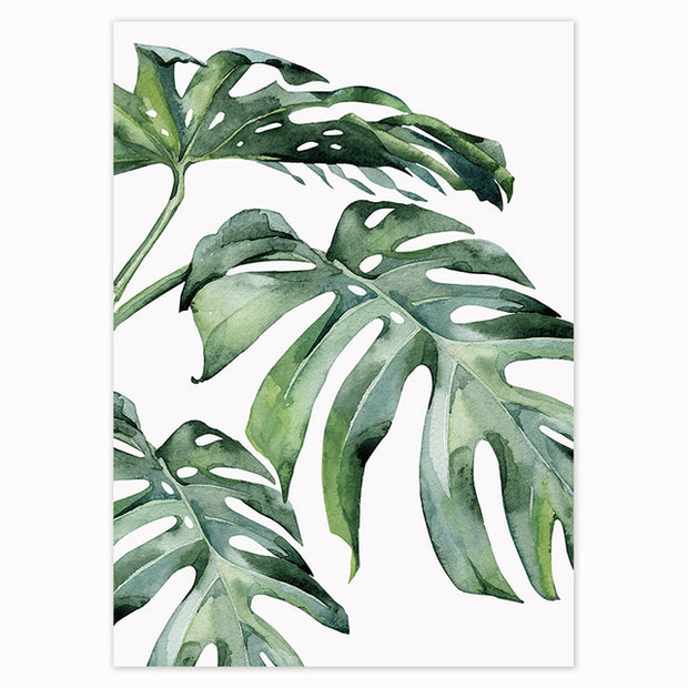 Tropical Green Leaves Poster 11