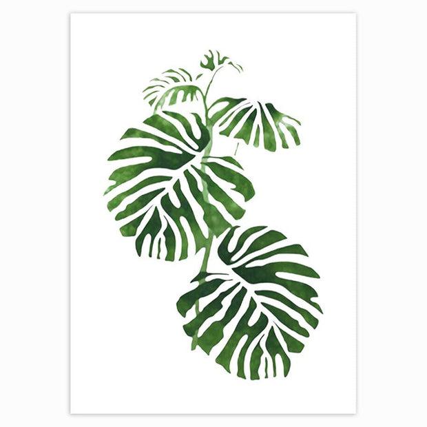 Tropical Green Leaves Poster 9