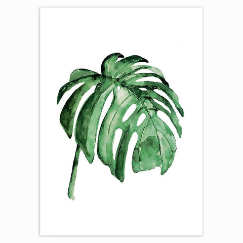 Tropical Green Leaves Poster 13
