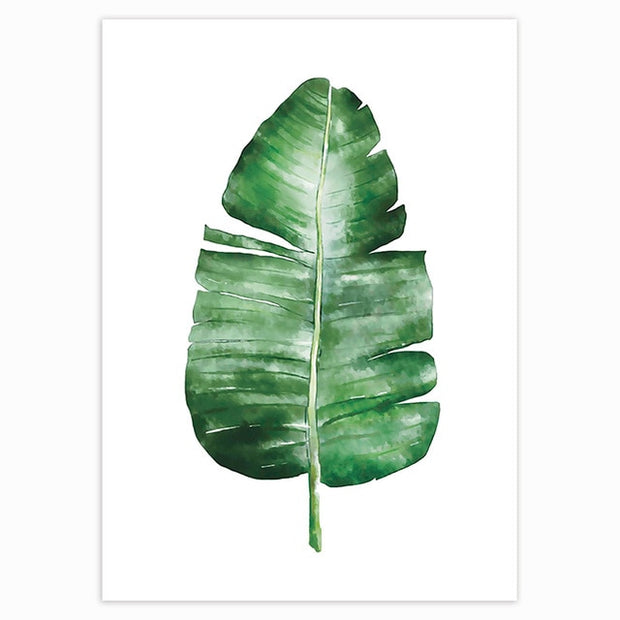 Tropical Green Leaves Poster 3