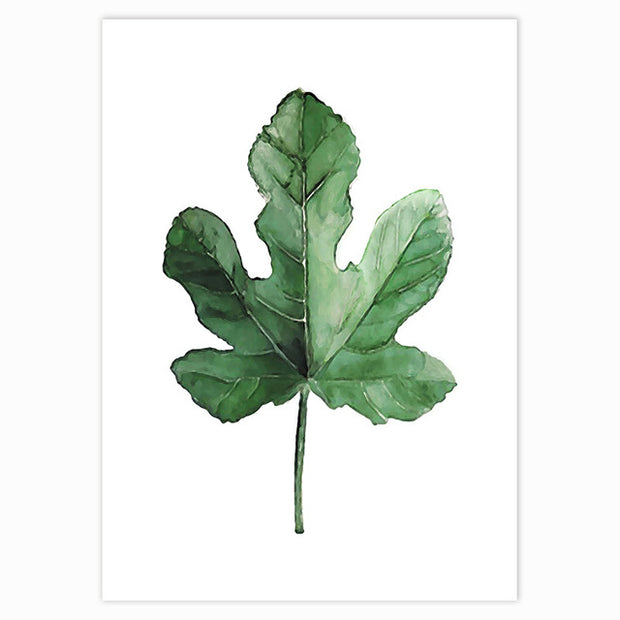 Tropical Green Leaves Poster 10