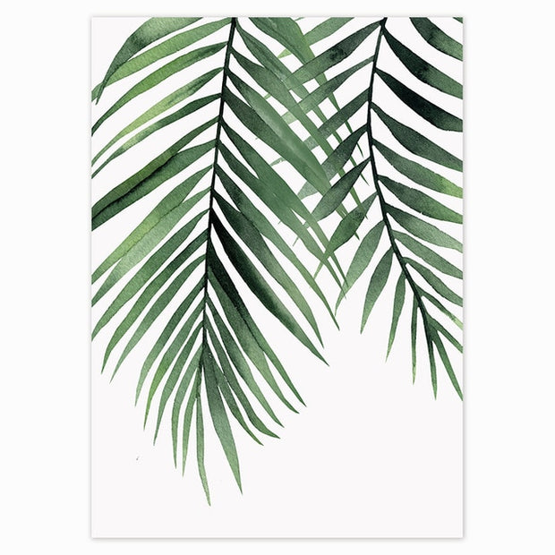 Tropical Green Leaves Poster 5