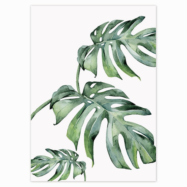 Tropical Green Leaves Poster 16