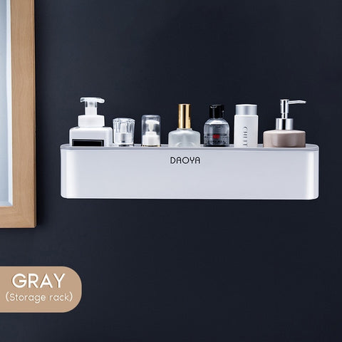 Bathroom Shelf Shower Organizer Gray