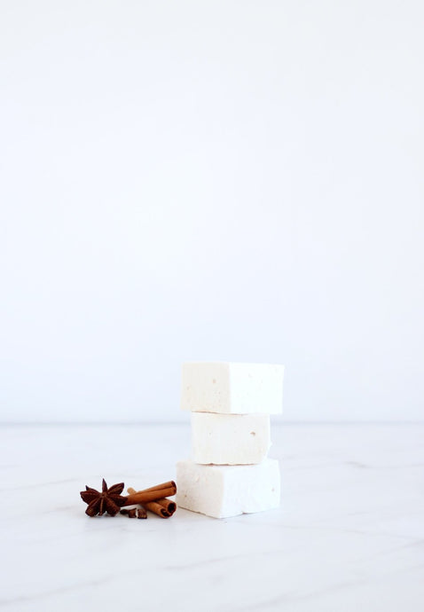 chai marshmallows stacked