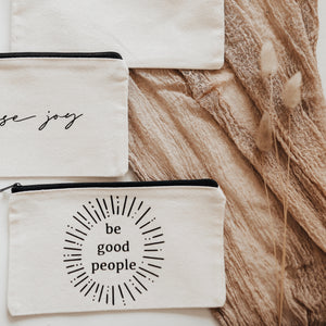 Canvas Pouch// Be Good People
