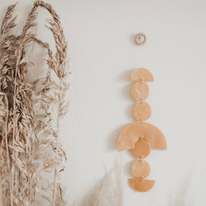 Clay Wall Hanging// Muted Blush
