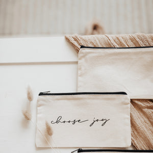 Canvas Pouch// Choose Joy