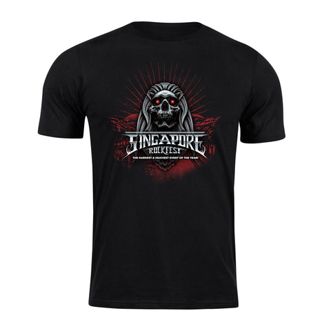 Singapore Rockfest T-Shirt - Design 2 (Free Singapore Rockfest Mask!)