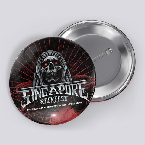 Singapore Rockfest - Pin Badge - Design 1