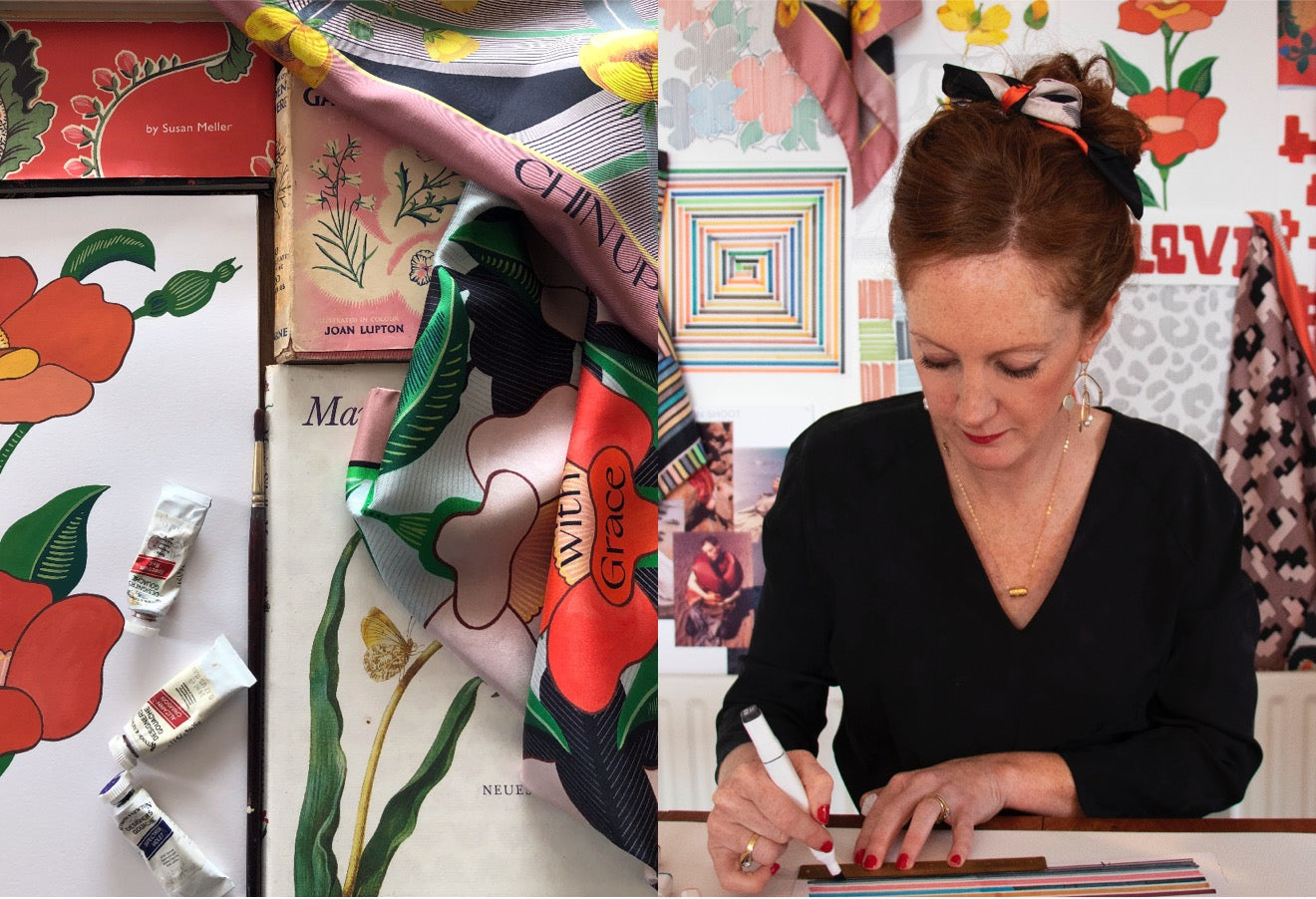 Irish designer, Niamh Gillespie at work in her studio.