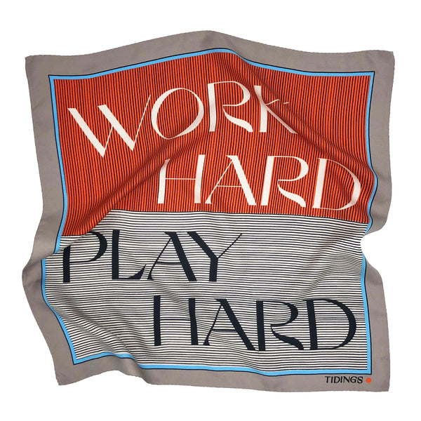 WORK HARD PLAY HARD - TANGERINE