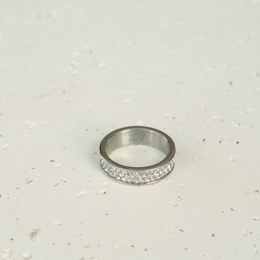 3 Layer Diamond Ring (Silver)