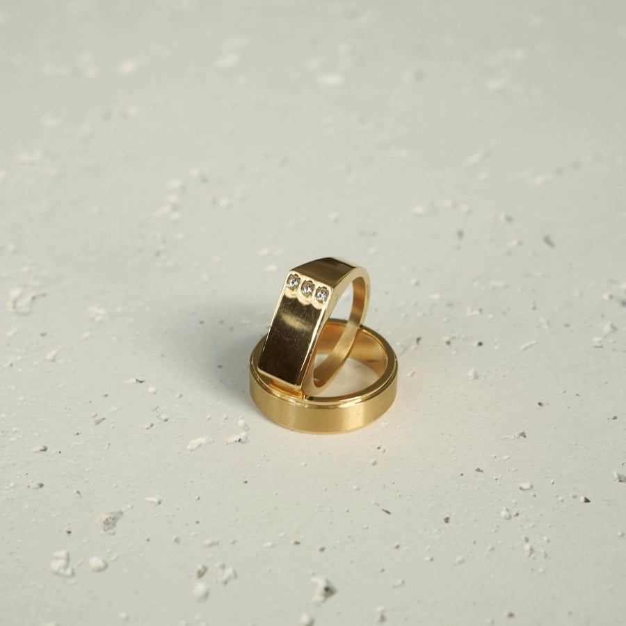 Triple Diamond Ring (Gold)