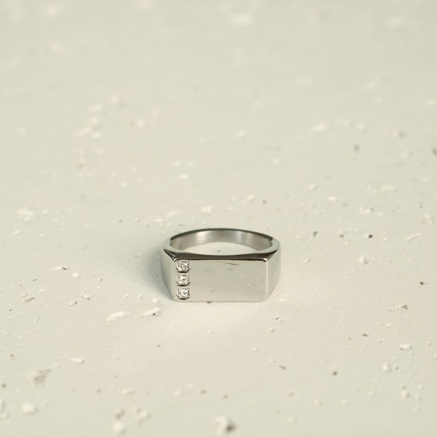 Triple Diamond Ring (Silver)