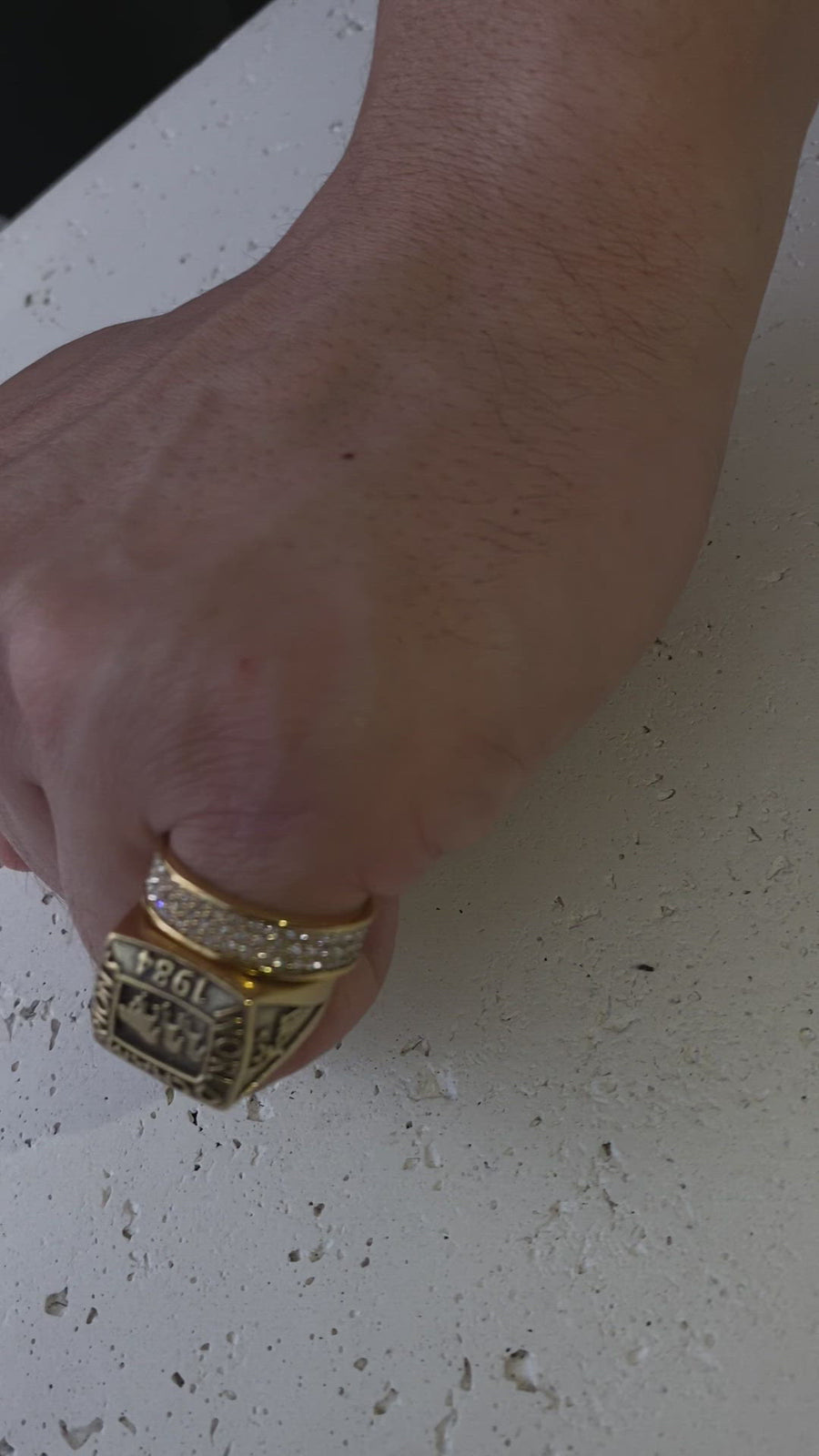 3 Layer Diamond Ring (Gold)