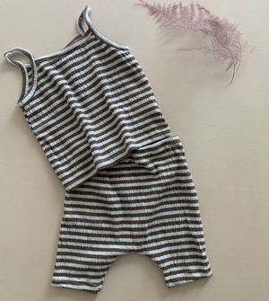 Stripe Vest & Shorts Set