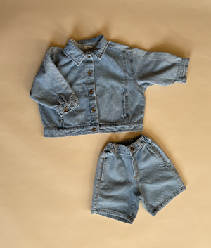 Load image into Gallery viewer, Block Denim Shorts