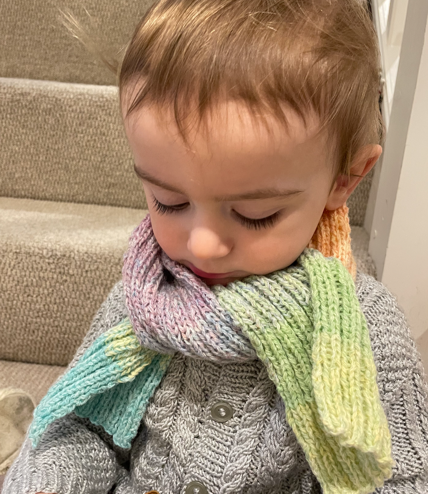 The Rainbow Scarf - Knitted, by Nanny