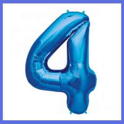"16"" Small Number 4 Foil Balloon"