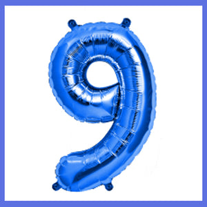 "16"" Small Number 9 Foil Balloon"