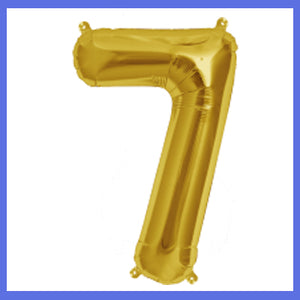 "16"" Small Number 7 Foil Balloon"