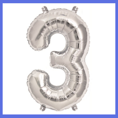 "16"" Small Number 3 Foil Balloon"