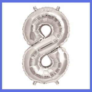 "16"" Small Number 8 Foil Balloon"