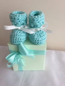 BABY BOOTIES WHITE
