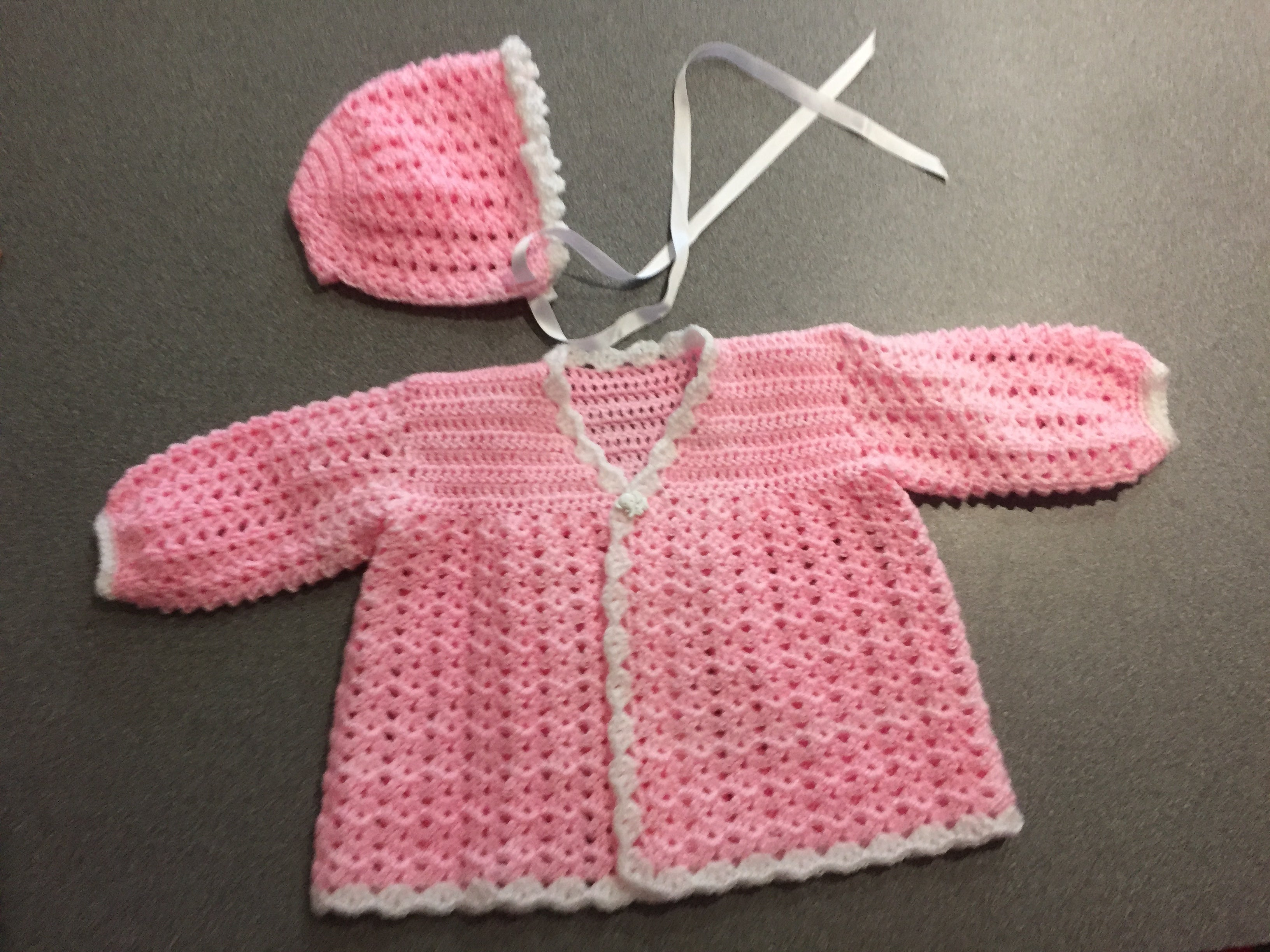 Hand Crocheted Jacket with Hat