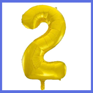 Number 2  Giant Gold Foil Balloon