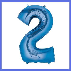 Number 2 Giant Blue Foil  Balloon