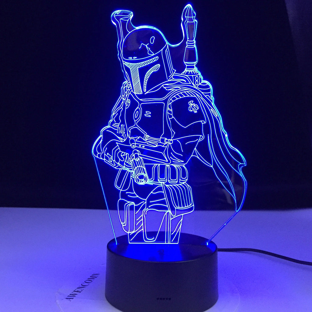 The Mandalorian Boba Fett Lamp