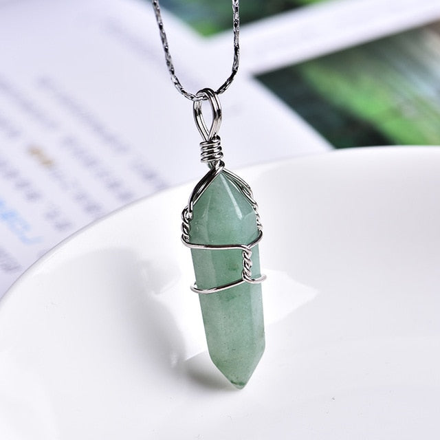 Natural Crystal Pendant Necklace