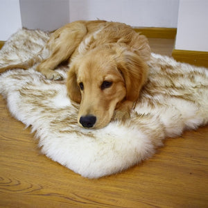 PupRug Orthopedic Dog Bed - Curve White