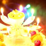 Magic Flower Birthday Rotating Candle