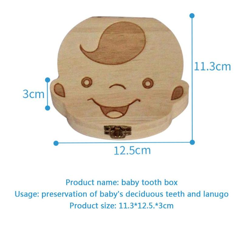 Wooden Tooth Fairy Box For Kids | Baby Tooth Keepsake