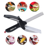 Stainless Steel Kitchen Scissors 2-in-1 with Cutting Board