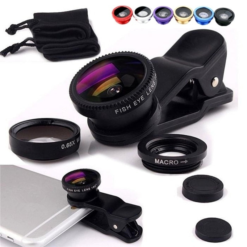 3 in 1 Wide Angle Lens For Phone
