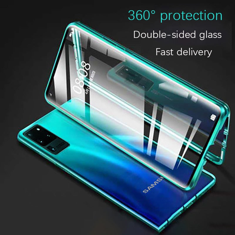 2021 Samsung Double Sided Protection Anti-Peep Tempered Glass Phone Case