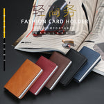Leather RFID Secure Cash and Cards Wallet